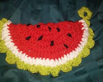Watermelon potholder, insulated