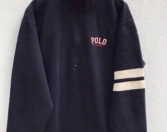 20% OFF Polo Ralph Lauren Sweater Sweatshirt Vintage Polo Jeans Company Sweater jacket Polo Sport jacket Polo Bear fit sz M