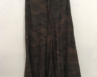 Military style cotton skirt woman size small