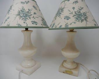 Pair of Alabaster Lamp, free shipping