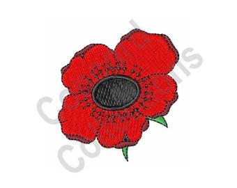 Poppy Flower - Machine Embroidery Design