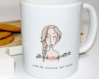 "Cup ""with music in the Heart"""