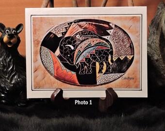 Artistic Card Set / Colorful Buffalo  / Amber