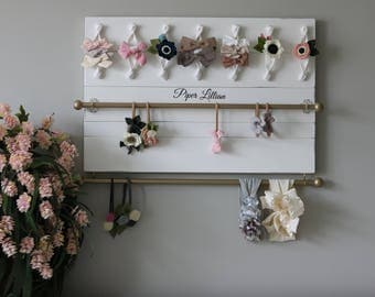 Hair Bow Holder Hair Bow Organizer Headband Holder Headband Organizer Girl Shower Gift Baby Girl Gift Girl Nursery Decor Farmhouse Style