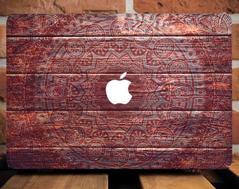 Wooden Henna 12 Macbook Sleeve Mandala 11 Macbook Air Wood Laptop Sleeve Mac Sleeve Macbook 12 Sleeve Macbook Air 13 Sleeve Hard Case WCm240