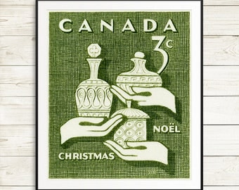 P069 Christmas Noel, Noel Canada, Christmas Stamp, Three Kings, Canada Christmas Cards, Gold Frankincense Myrrh, Christmas Vintage, Xmas art