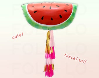 "35"" WATERMELON BALLOON | Huge Summer Balloon | Summer Party Decor | Pool Party Decoration | Giant Watermelon Balloon | Fruit Lover Balloon"