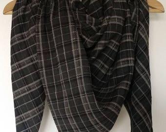 Trendy scarf, scarf size XL - checkered - men