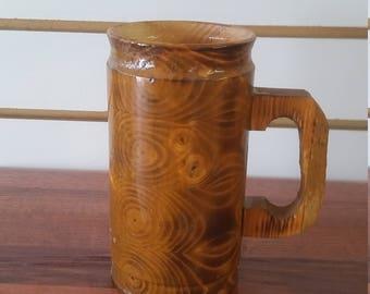 wooden coffee mug , 10 0z. slim design