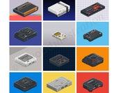Classic Consoles Pixel Ar...