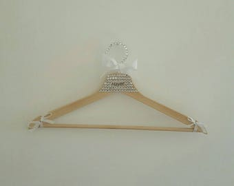 Beautiful wooden wedding hanger