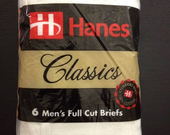 Vintage 90s HANES classic underwear briefs six pack size 36 Tighty Whities