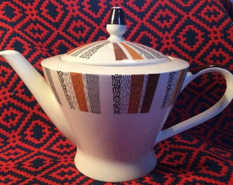 Burleigh Ware Costa Brava Teapot and Sugar Bowl