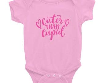 Cuter Than Cupid Valentine's Day Infant Bodysuit