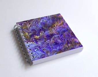 "Notebook 4x4"" decorated with motifs of marbled papers - 3"