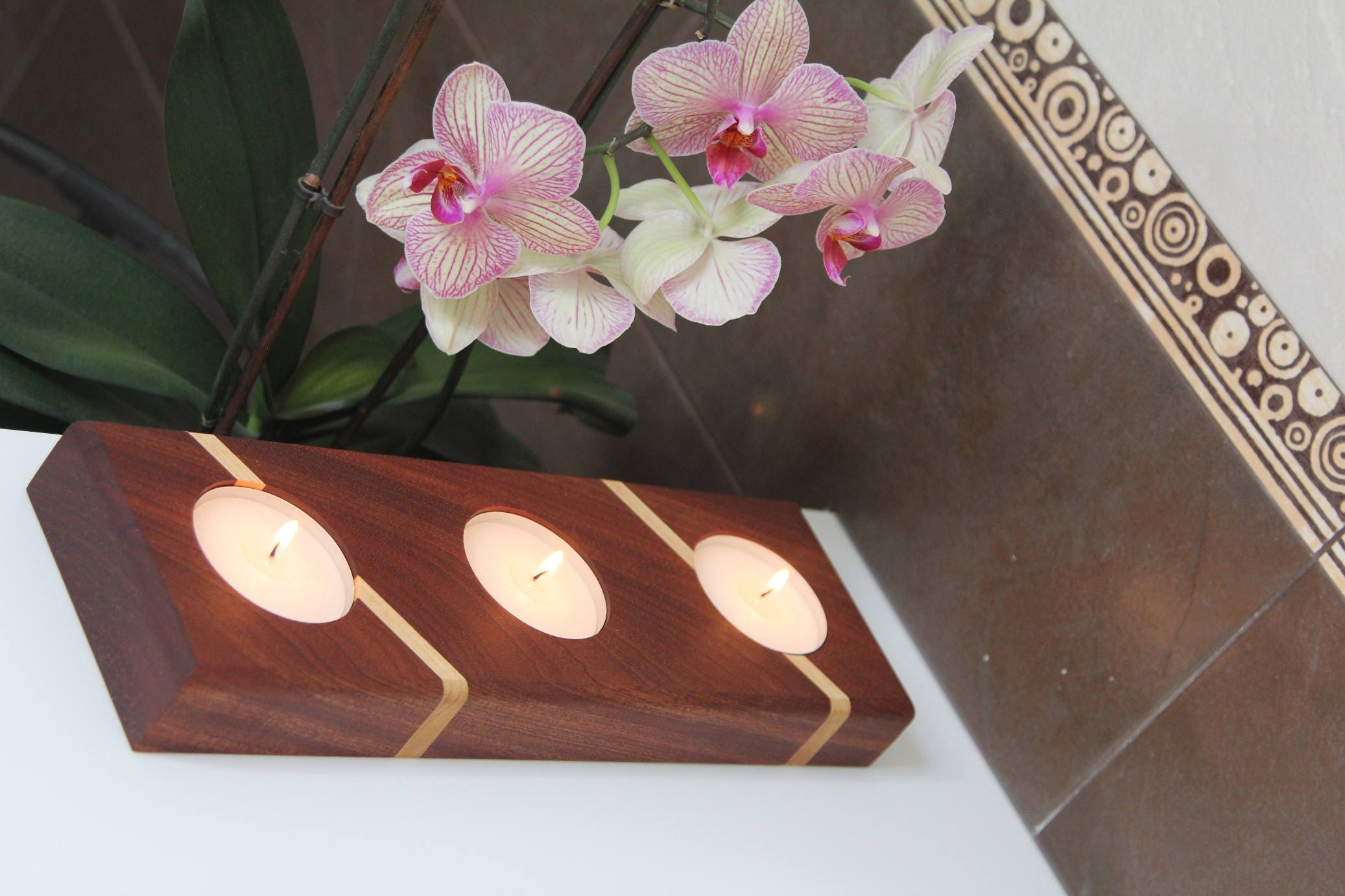 Candle Holder Candles Centerpiece Tea Light Anniversary Gift Birthday