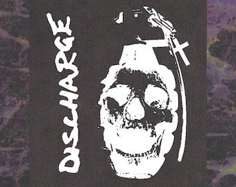 Discharge BACK Patch - Crust D-beat Nausea Anti Cimex Doom the Exploited Crass Phobia Dropdead Disfear Skitsystem Avskum Aus-rotten Amebix
