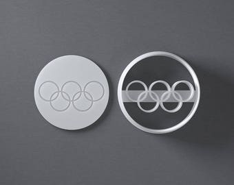 Olympic rings cookie cutter to celebrate the upcoming Olympic Games