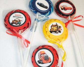 Cars 3 Lollipops Paletas De Dulce~ Dessert Table Decoration ~birthday Party Favors~ Set Of 10 Ct