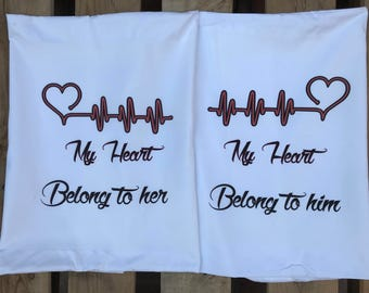 my heart pillow cases