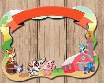 Farm  themed party photo frame2