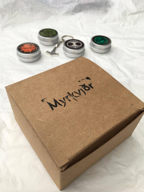 myrkvidr viking beard balm grooming kit with gift box summer. Black Bedroom Furniture Sets. Home Design Ideas