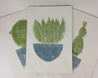 3 Pack A5 Notebooks Cactus & Houseplant Designs