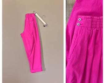 90's High Waisted Cotton Pants / Womens Cotton Pants / Womens 90's Pants / 90s Cotton Pants / MC Hammer Pants