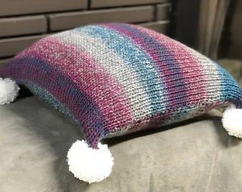 Berry Cream Knit Toss Pillow
