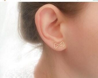 SALE - Bow Earrings - Bow Stud Earrings - Elegant Stud Earrings - Elegant Earrings - Infinity Earrings - Bow Tie Earrings - Bow Tie Studs