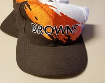Cleveland browns snapback, browns splash snapback,90s, nfl proline hat,vintage nfl