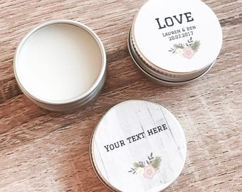 Lip Butters. Balm. 15g. Wedding favor, bride tribe, bridal shower, baby shower, Personalise. Sweet Orange, peppermint . Favors, Thank you's