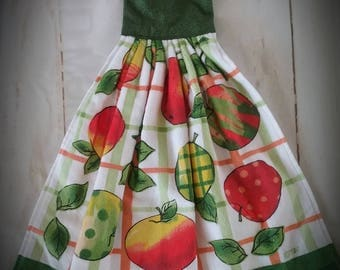 Apple Hanging Towel Hanging Towels Kitchen Towels Towels Fabric Towels  Hanging Kitchen Towels Towel With Ties