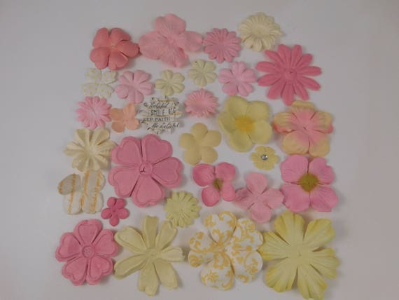 Prima paper flowers pink assortment no 410 got flowers scrapbooking prima paper flowers pink assortment no 410 got flowers scrapbooking prima flowers mulberry paper flowers sampler floral cards from creativebounty on etsy mightylinksfo