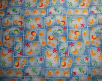 Cotton Fabric, 1/2 yd cut, OUR WORLD, destash - pay it forward, PIF