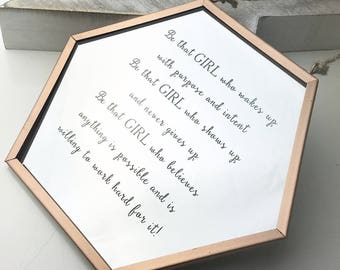 Be That Girl Daily Inspiration Mirror