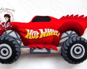 MONSTER TRUCK, Hot wheels car, felt toys, felt car