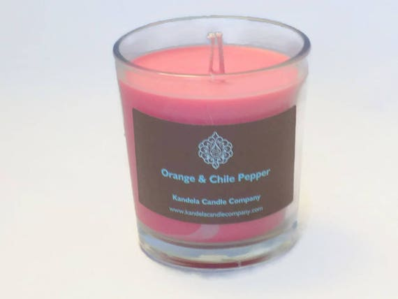 New! Orange and Chili Pepper Scented Candle in Classic Tumbler Jar