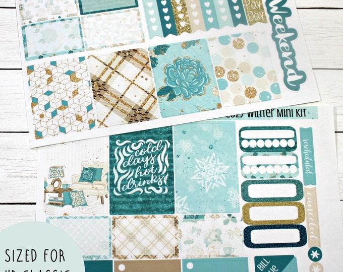 Happy Planner Stickers - Christmas Planner Sticker Set - Erin Condren Life Planner - Day Designer - Functional stickers - Cozy Winter