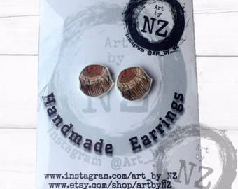 Tunnocks Teacake Earrings // Teacake Gift // Tunnocks Gift // Scottish Earrings // Kitch Earrings // Handmade Earrings // Teacake Earrings