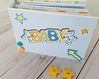 Handmade baby boy scrapbook mini album - Our Baby Boy