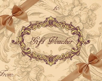 Gift Vouchers / gift cards/ gift coupons/ Elaine's Couture gift cards