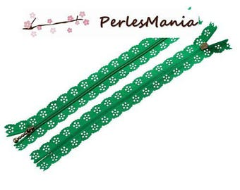 5 LACE ZIPPERS WITH ZIPPER 20CM S1177755 GREEN BRONZE