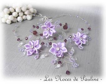 Wedding dress purple Daisy collection 'Twist' c