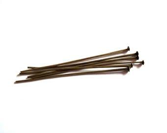 Set of 50 posts nails bronze 5 cm