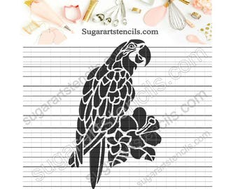 Parrot cookie stencil Nb900317