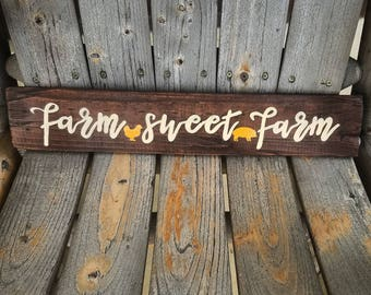 Farm Sweet Farm pallet wood sign