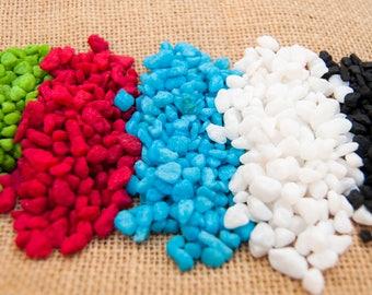 Coloured Pebbles, Small Pebbles, Pebbles for Craft, Pebble Art, Vase filler Pebbles, Coloured Gravel, Succulent topper, zen gardens