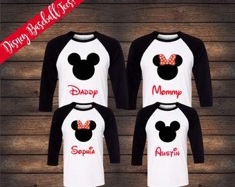 Disney Raglan Family Shirts | Matching Raglan Family Shirts | Disney Family Shirts | Mickey Minnie Shirts | Disney Baseball Shirts