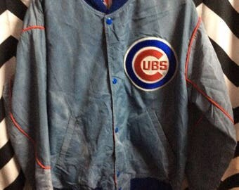 Starter Baseball Jacket - Light Weight - Chicago Cubs - Acid Washed - Mlb